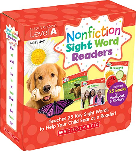 Nonfiction Sight Word Readers Parent Pack Level A: Teaches 25 key Sight Words to Help Your Child Soar as a Reader!