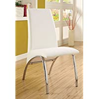 Novae Parsons Chair (Set of 2) Finish: White