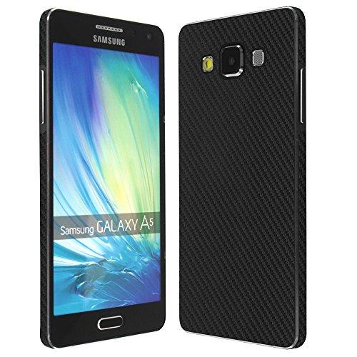 Skinomi TechSkin - Samsung Galaxy A5 Screen Protector + Carbon Fiber Full Body Skin / Front & Back Wrap / Premium HD Clear Film / Ultra Invisible and Anti-Bubble Shield