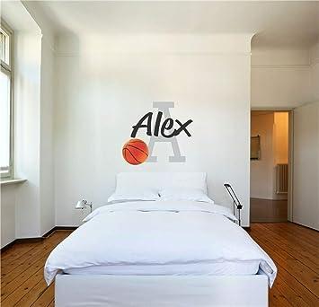Adesivo Muro Adesivo Murale Bambini Decalcomania Nome Personalizzato Con Basket Realistico Per Camera Da Letto Amazon It Fai Da Te