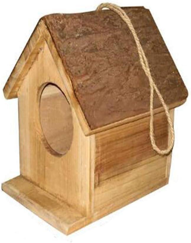 XYBB Nidos para Pajaros Pájaro Creativo Nido De Cedro Corteza Casa Forma Pájaro Cría Casa De Avestruz Nido Spot Al por Mayor Ornamentos De Madera como se Muestra B