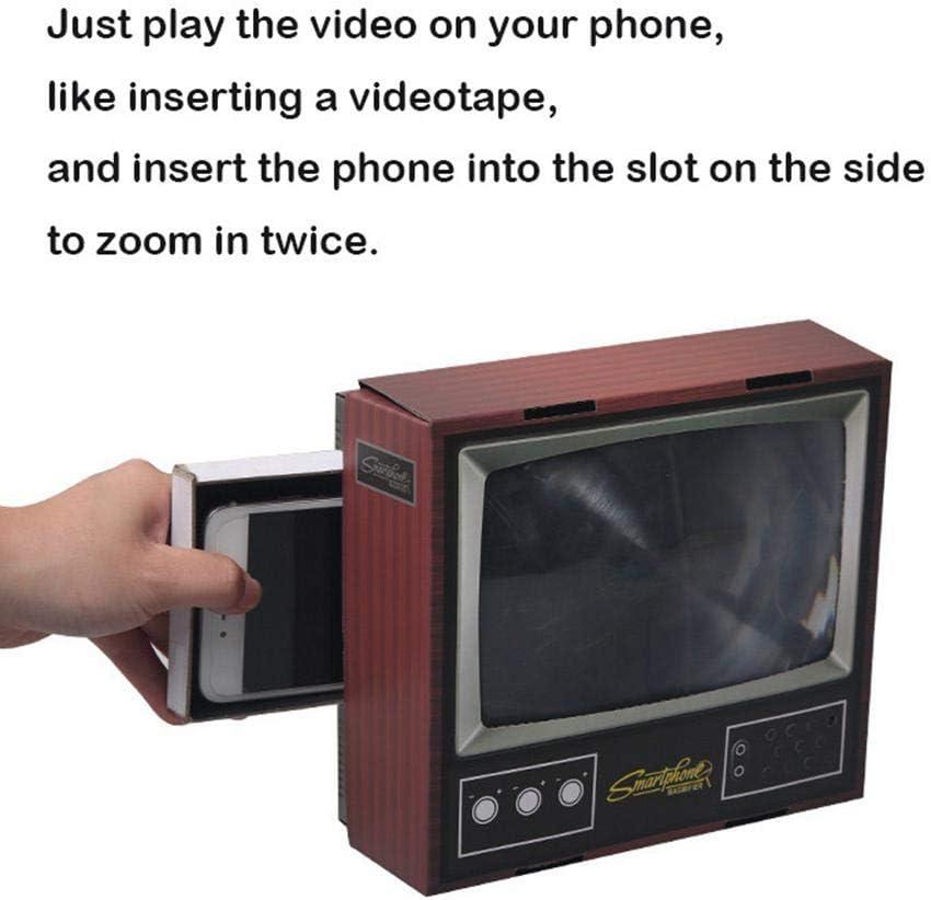 Lupa de pantalla, creativa y retro con forma de televisión antigua, para montar tú mismo, de papel, para smartphone, con amplificador de pantalla con soporte plegable, soporte para teléfono móvil: Amazon.es: Hogar