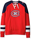 NHL Montreal Canadiens Men's Centre Long Sleeve Crew Neck Pullover Sweatshirt, Medium, Red/Navy/White