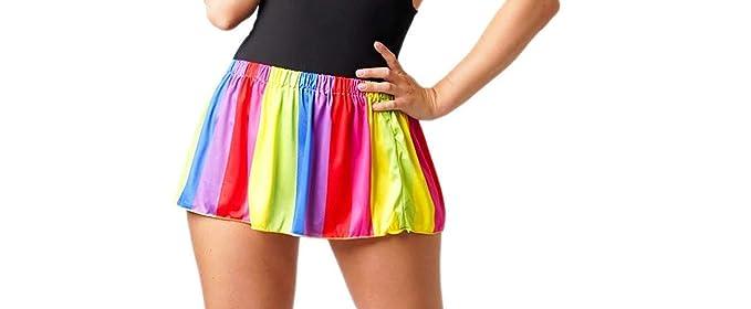 Divas Micro Mini Rainbow RARA Falda Mujer: Amazon.es: Ropa y ...