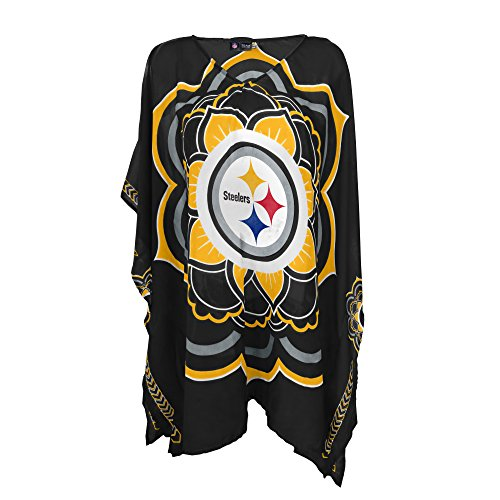 NFL Pittsburgh Steelers Womens NFL Caftan, black, One Size Fits Most