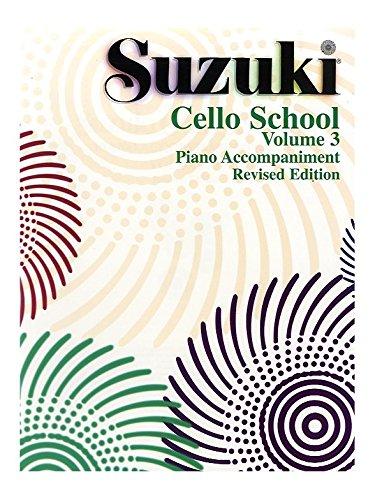 Suzuki Cello School Volume 3 Piano Accompaniment Revised Edition. Partitions pour Violoncelle