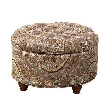 Asombroso Muebles De Almacenamiento Ronda Otomana Ilustración ...