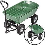 BestMassage Heavy Duty Poly Garden Utility Yard Dump Cart Garden Cart Wheel Barrow
