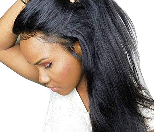 Dark Sky Small Natural - Lace Frontal Wig Peruvian Straight Hair Wigs Lace Front Human Hair Wigs,Lace Front wigs,10inches,Natural Color