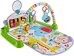 Kick play time up a notch with this deluxe gym featuring five light-up piano keys, a repositionable toy arch, and four musical settings that keep your little one rocking out for years. As your baby grows from lay and play to tummy time to sit...