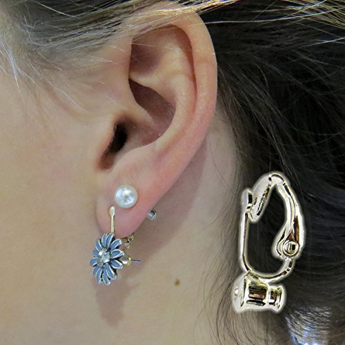 Evelots 5 Pair Silver Plated Clip-On-Earring Converter - Turn Any Post Or Stud