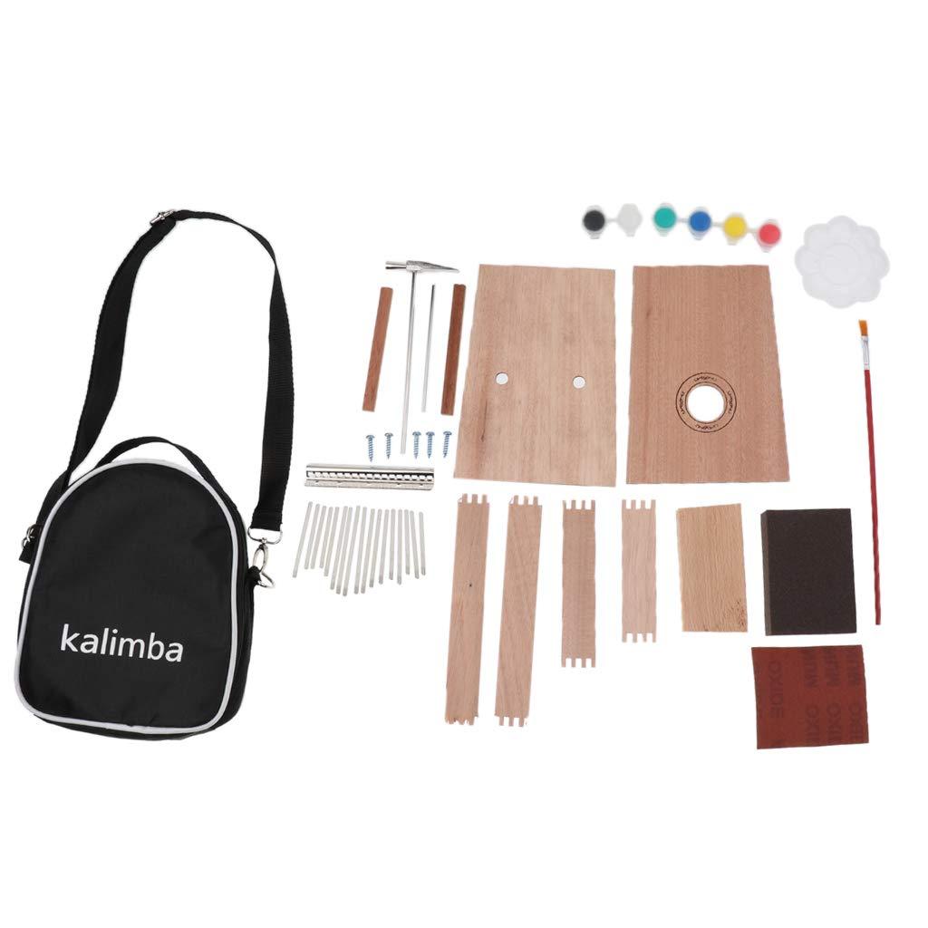 Homyl 1 Set 17 Key Kalimba DIY Kit Unfinished Thumb Piano Mbrimba with Bag