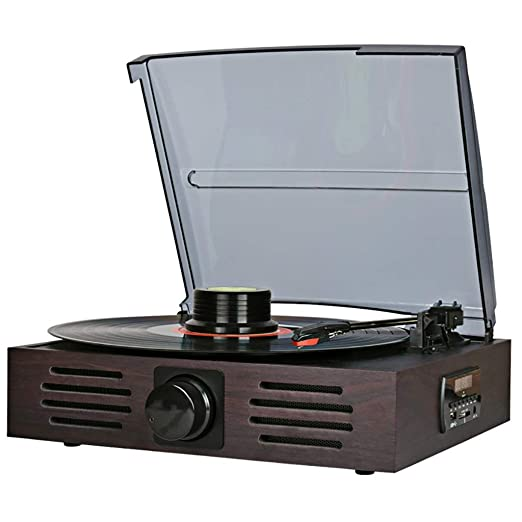 Cpjac Tocadiscos Gramófono, giradiscos estéreo de Alta Velocidad ...