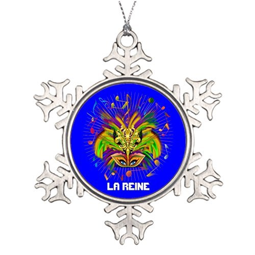 hanjear59 Ideas for Decorating Christmas Trees Mardi Gras Queen Style 3 View Notes PLSE Cute Snowflake Ornaments Tree Decor Mardi Gras ()