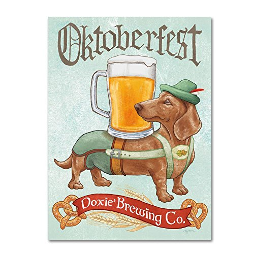Beer Dogs III by Mary Urban, 35x47- Funny Dog Canvas Wall Art
