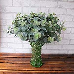 LtrottedJ Artificial Fake Leaf Eucalyptus Leave Simulation Leaves Wedding Party Home Decor 49