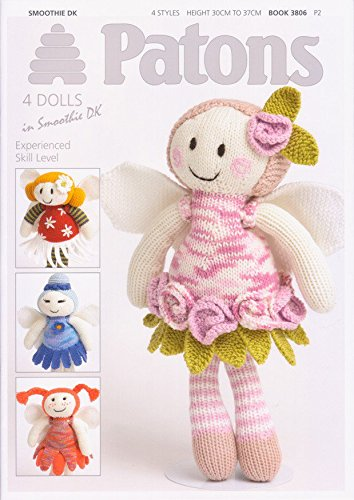 Four Fairy Flower Dolls Knitting Patterns 3806 -
