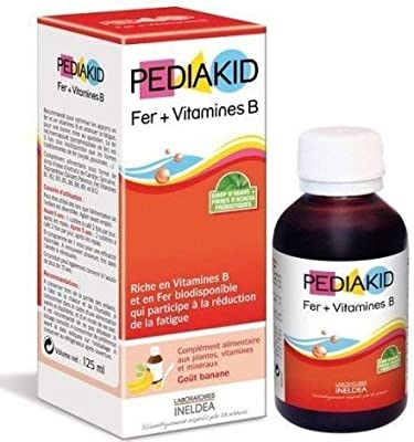Pediakid Iron + Vitamin B Complex. All New Formula of Liquid Vitamins & Mineral Supplement to Help Children with Fatigue, Tiredness and Iron Deficiency