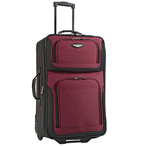 Travel Select Amsterdam Expandable Rolling Upright Luggage Bag  – Burgundy (25-Inch)