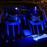 Partsam 10PCS Blue T4.7 Instrument Panel LED