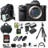 Sony Alpha a7RII Mirrorless Digital Camera (Body Only) w/ 128GB SD Card & Photo/SLR Sling Backpack Bundle