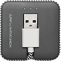 Native Union JUMP Cable [Apple MFi Certified] for Apple Lightning Devices 2-In-1 Lightning to USB Charging Cable & Battery Booster (Slate)