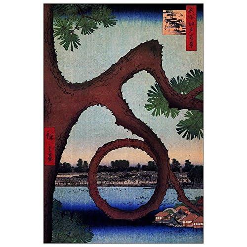 ArtPlaza Hiroshige Utagawa - Moon Pine Panneau Décoratif, Bois, Multicolore, 60 x 1.8 x 90 cmAS92930