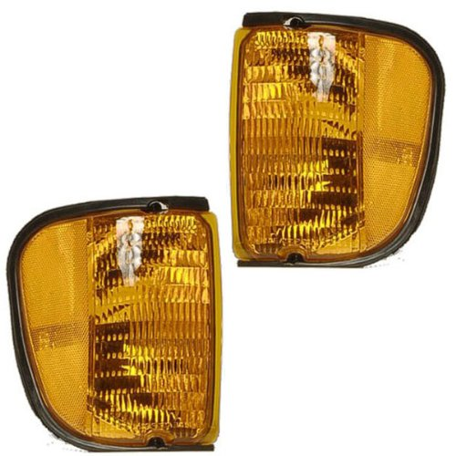 (2004-2007 Ford Econoline Van E-Series E150 E250 E350 E450 Super Duty Club Wagon Park Corner Light Turn Signal Marker Lamp Pair Set Right Passenger AND Left Driver Side (2004 04 2005 05 2006 06 2007 07))