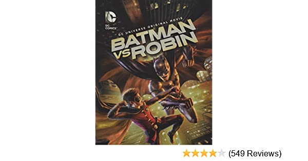 Amazon.com: BATMAN vs ROBIN (DC universe original movie) Blu ...