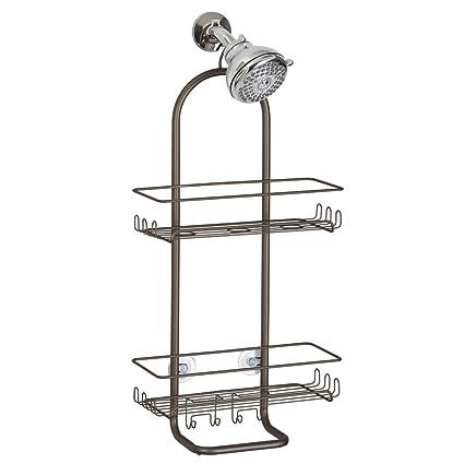 InterDesign Classico Extra Large Shower Caddy   Bathroom Storage Shelves  For Shampoo, Conditioner And Soap