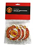 football air freshener - Manchester United FC Set of 3 Air Fresheners - Official Manchester United Product - Great For All MUFC Soccer Fans - Use in Your Car, Boat or Locker - Features Team Colors and Crest - Man Utd Soccer