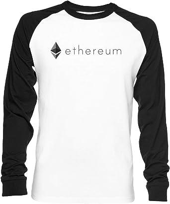 Ethereum Logo Unisex Camiseta De Béisbol Manga Larga Hombre ...