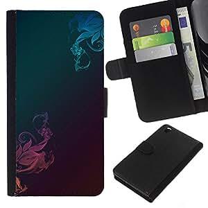 KLONGSHOP // Tirón de la caja Cartera de cuero con ranuras para tarjetas - Patrón de metal cepillado trullo Rosa - HTC DESIRE 816 //