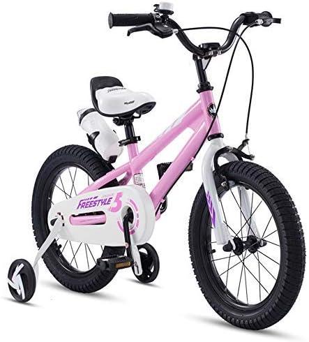 YSA キッズバイクキッズバイク、12/14/16/18インチトレーニングホイール付き、2〜9歳の男の子と女の子用、複数の色