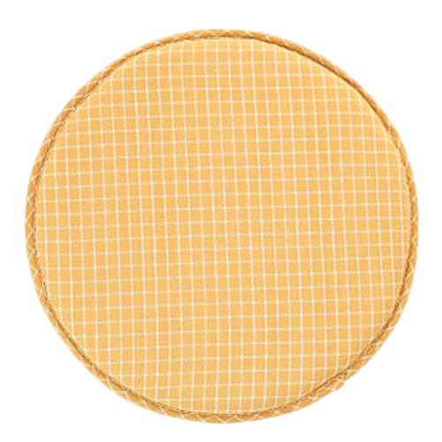 Japanese Style Round Chair Cushion Seat Pad Non-slip Chair Cushion, Yellow