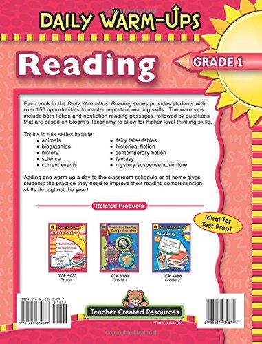 Amazon.com: Daily Warm-Ups: Reading, Grade 1 (0088231934875 ...