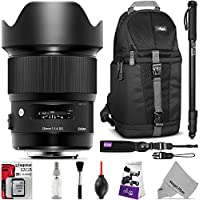 Sigma 20mm F1.4 ART DG HSM Lens for CANON EF DSLR Cameras w/ Advanced Photo and Travel Bundle
