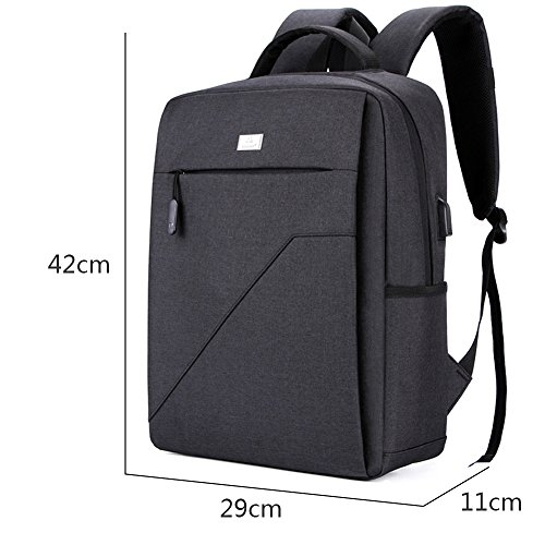 JUND Herren Business Laptop Cityrucksack männer Outdoor Sport Rucksack Backpack Wandern Jungs Schultasche Laptoprucksack Casual 15 Zoll (Schwarz) Schwarz
