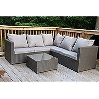 Fresh Merax pcs Patio Furniture Set Outdoor Wicker Garden Furniture Set with Beige cushion Brown