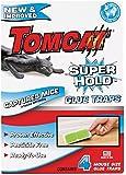 Tomcat Super Hold Mouse Size Glue Traps, 4-Pack (Super Hold Formula)