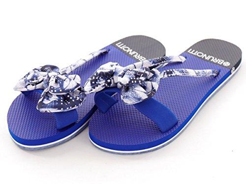 Brunotti Slipper Bolleli Sommerschuh Sandale blau Schleife EVA Blumen Gr. 37 161325103