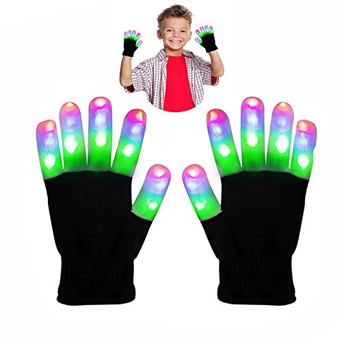 Toys for 4-5 Year Old Boys, 3-7 Years Old Girl Toys, TOP Gift Cool Fun Gifts 8-12 Years Old Girl Toys LED Flashing Glvoes GL02