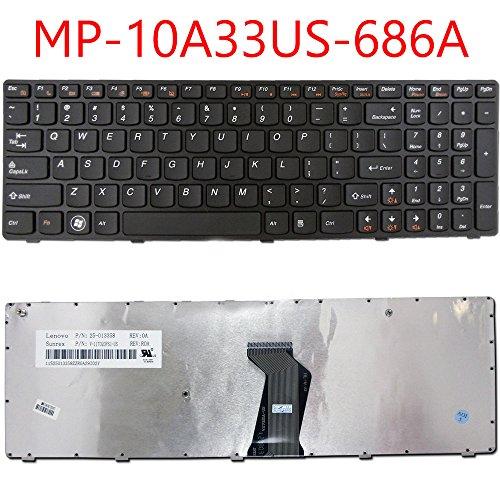 Lenovo Original NEW IBM Ideapad Z560 Z560A Z565 Z565A black Keyboard US Frame Original Keyboard
