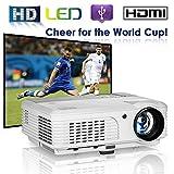 EUG LCD Multimedia Movie Projectors Outdoor 3600 Lumen LED Home Cinema HD 1080P