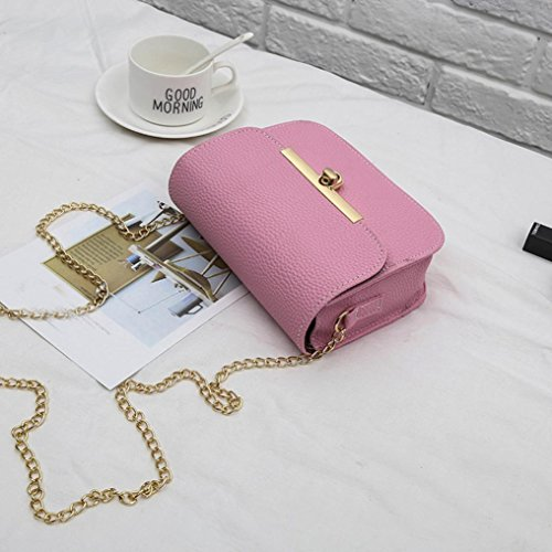Crossbody Chain Women's Tote Casual Bags Purses Messenger Shoulder for Bags Bag Handbag Bag Ladies Shoulder Travel Bag Pink Clutch AqAEg1xw