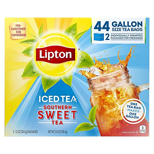 Lipton Southern Sweet Tea, Gallon-Size Tea Bags (44 Tea Bags)