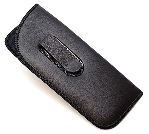 Half Clip Soft Eyeglass Case in Black