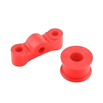 Kit de bujes de cambio, Kit de bujes de cambio de auto de poliuretano rojo 2 piezas: Amazon.es: Coche y moto
