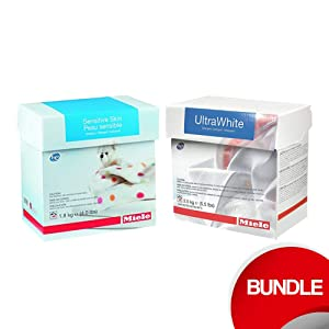Miele Powder Detergent Bundle - Sensitive and UltraWhite - 48 Loads (2.5 KG Each)