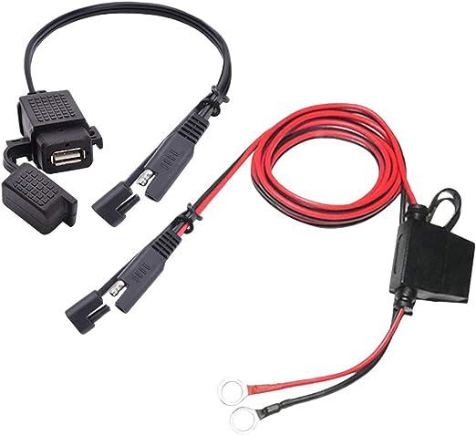 Hemobllo Kit de Cargador USB para Motocicleta SAE a Adaptador de ...